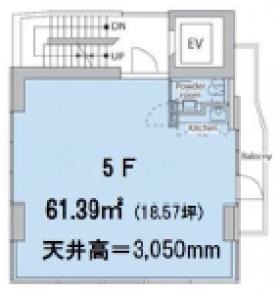代官山フロントビル:基準階図面