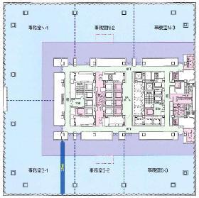 東京ガーデンテラス (紀尾井町):基準階図面