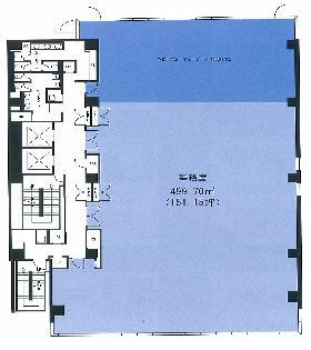 相鉄田町ビル:基準階図面