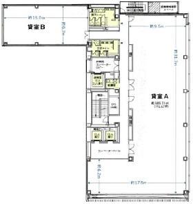 メルクロスビル:基準階図面