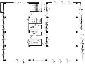 松亀センタービル:基準階図面