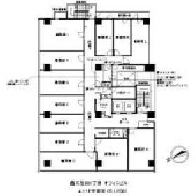 アイオス五反田駅前ビル:基準階図面