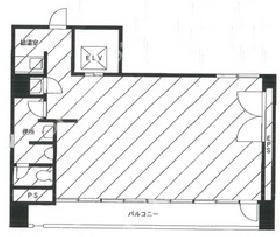 汐留AZビル:基準階図面