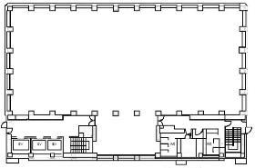 イタリア文化会館:基準階図面