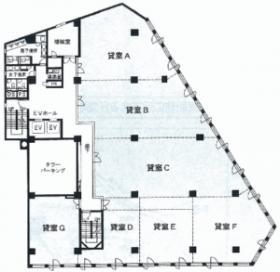 YS千葉中央ビル:基準階図面