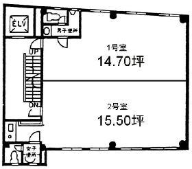 第2梅村ビル:基準階図面