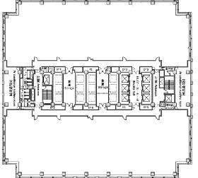 ワールドビジネスガーデン(WBG):基準階図面