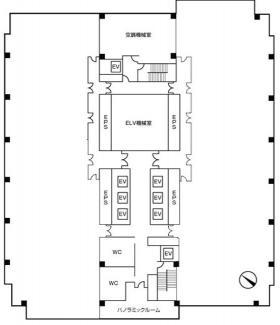 千葉ポートサイドタワービル:基準階図面