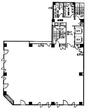 サンヨー堂日本橋ビル:基準階図面