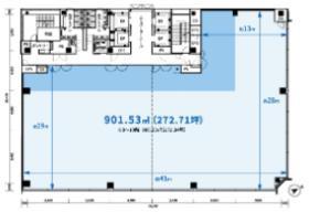 (仮)京橋二丁目プロジェクトビル:基準階図面