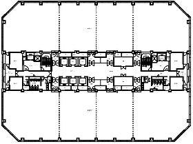 幕張テクノガーデンD棟:基準階図面