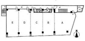林ビル:基準階図面