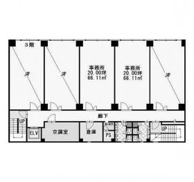 千代田生命船橋ビル:基準階図面