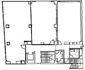ジブラルタ生命市川ビル:基準階図面