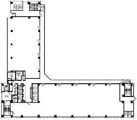 千葉中央ツイン1号館ビル:基準階図面