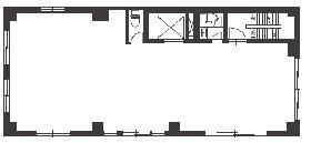 人形町103ビル:基準階図面