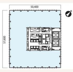 晴海フロントビル:基準階図面