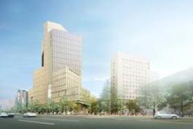 上智大学四谷キャンパス新棟計画ビルの外観写真