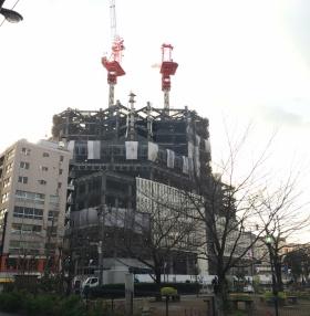 上智大学四谷キャンパス新棟計画ビルのエントランス