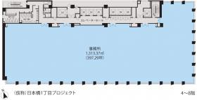 東京建物日本橋ビル:基準階図面