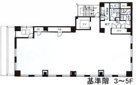 藤和神田錦町ビル:基準階図面