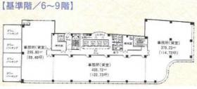 船橋スクエア21ビル:基準階図面