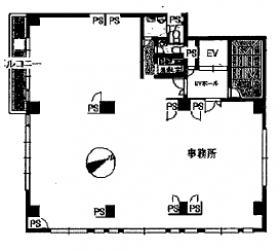 クラート大崎ビル:基準階図面