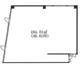 扇屋ビル:基準階図面