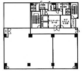 エレル新宿ビル:基準階図面