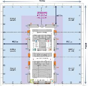 東京スクエアガーデン:基準階図面