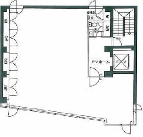 平河町154ビル:基準階図面