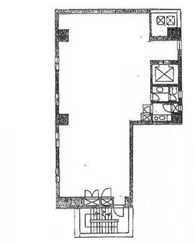 神田第4パークビル:基準階図面