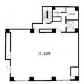 高砂パークスペースビル:基準階図面
