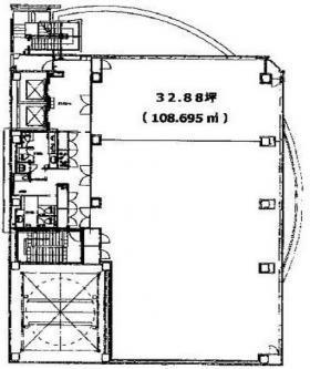 FSKビル:基準階図面