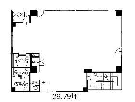 風雲堂別館ビル:基準階図面