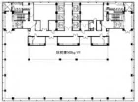 明治安田生命さいたま新都心ビル:基準階図面