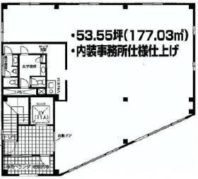 藤蔵ロイヤルビル:基準階図面