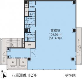 八重洲香川ビル:基準階図面