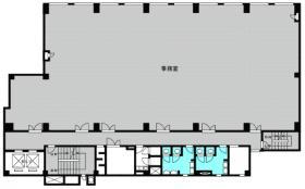 熊谷朝日八十二ビル:基準階図面