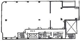 熊谷駅前ビル:基準階図面