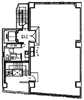 四谷三和ビル:基準階図面