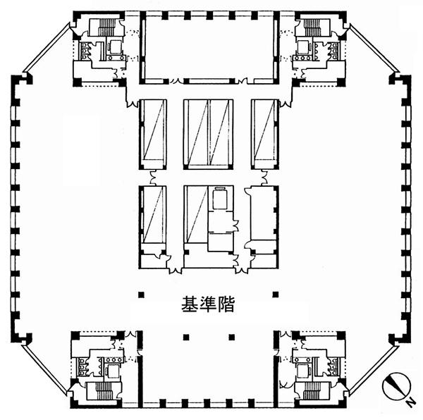 東京オペラシティビル 32F 121坪(399.99m<sup>2</sup>) 図面