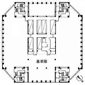 東京オペラシティビルの基準階図面