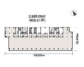 日本橋一丁目三井ビルディング:基準階図面