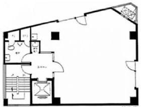 レインボービル:基準階図面