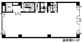 日本橋本町ビル:基準階図面