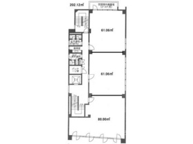 大宮イーストビル:基準階図面