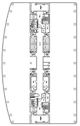 大宮ソニックシティ:基準階図面
