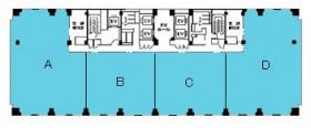大宮センタービル:基準階図面