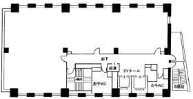 神保町101ビル:基準階図面